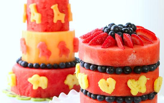 کیک هندوانه و خربزه