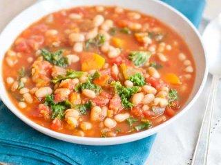 سوپ لوبيا سفيد و سبزيجات