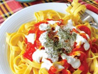 پاستای گوجهفرنگی (افغانی)، (مقرون به صرفه)