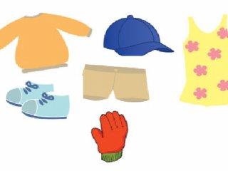 آموزش لباس های مناسب فصل به کودکان