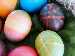 تخم مرغ رنگی راه راه