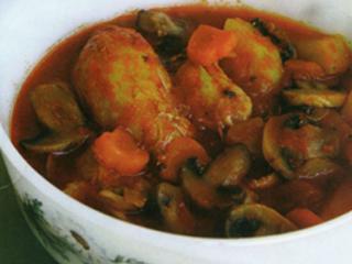 خوراك مرغ و سبزی (كمكالری)
