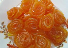 مربای پوست پرتقال به شكل گل رز