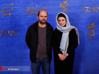 لیلا حاتمی کنار علی مصفا روی فرش قرمز جشنواره + عکس