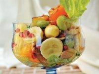 سالاد میوه با سس كارامل