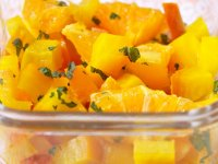 غذای انگشتی چغندر، پرتقال و نعنا