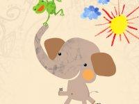 فیل مهربان و قورباغه بازیگوش