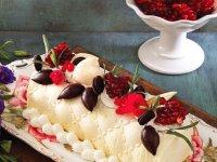 چیز کیک آلوورا با رولت پسته (ویژه یلدا)