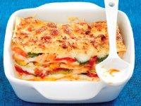 لازانیای سالمون و سبزیجات