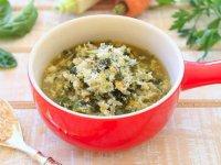 سوپ برنج و سبزیجات