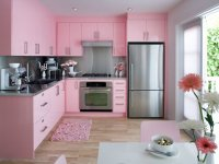 یک آشپزخانه صورتی!