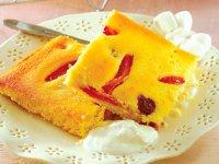 کیک آلو و بلوبری