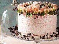 تزئین کیک با ایربراش و استنسیل