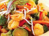 خوراک میگوو سبزیجات