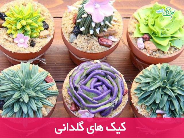 کیک های گلدانی