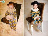 کودکان سندرم داون در تابلو نقاشی