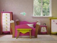 مبلمان رنگی و جذاب اتاق کودک