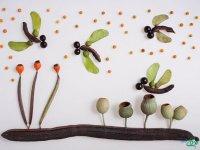 نقاشی با دانه ها