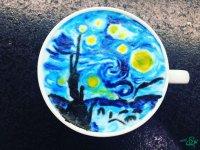 نقاشی روی فنجان قهوه