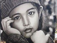 نقاشی های زیبا با سیاه قلم
