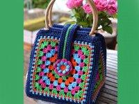 نمونه های زیبا از کیف های بافتنی