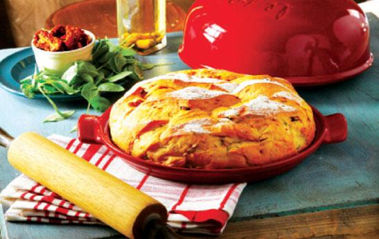 نان گوجهفرنگی و ریحان