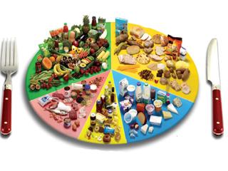 تعادل و تنوع در مصرف روزانه گروههای غذایی