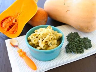 پاستا با پنیر و کدو حلوایی