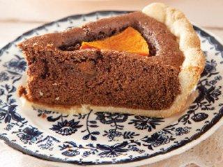 کیک شکلات و کدو حلوایی
