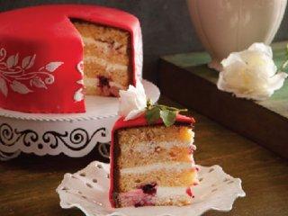 کیک نارگیل و تمشک
