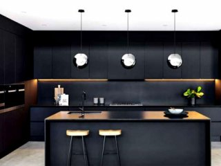 ایدههایی برای طراحی آشپزخانهای به رنگ سیاه