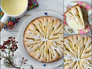دستور پخت کیک سیب خامهای