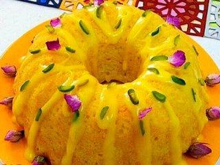 طرز تهیه کیک باقلوا زعفرانی