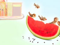 گنجشک و هندوانه