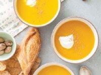 سوپ کدو حلوایی و سیب