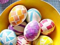 آموزش تزئین تخم مرغ های هفت سین با دستمال طرحدار