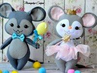 آموزش دوخت عروسک موش نمدی با الگو