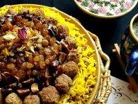 عدس پلوی عربی با مرغ + طرز تهیه