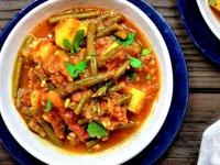 طرز تهیه خورشت لوبیا سبز با گوشت و مرغ