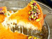 طرز تهیه کونوفه پنیری؛ دسر خاورمیانهای