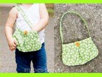 کیف دخترانه دکمهدار