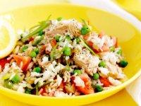 سالاد تن با فلفل و برنج