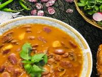 طرز تهیه خوراک لوبیا عروس با قارچ
