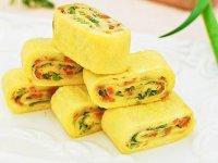 طرز تهیه رولت تخم مرغ و سبزیجات