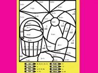 آموزش ریاضی  و رنگآمیزی
