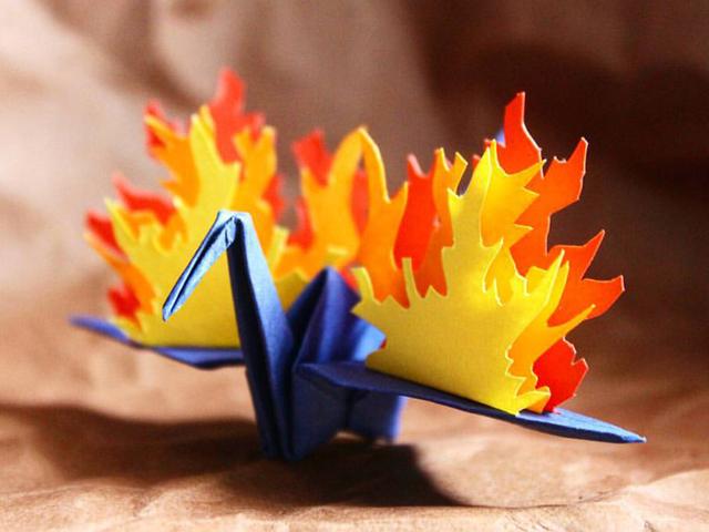 پرنده های کاغذی