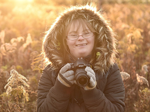 عکاس حرفه ای مبتلا به سندرم داون