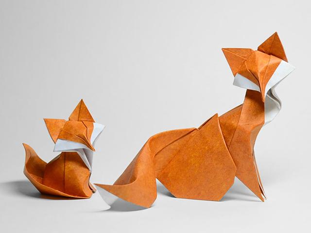 اوریگامی منحنی و جالب حیوانات