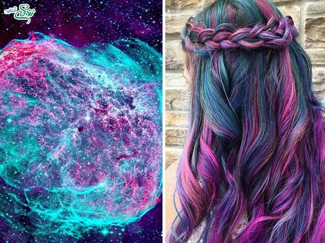 رنگ موهای کهکشانی