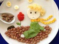 تزیین بشقاب غذای کودک